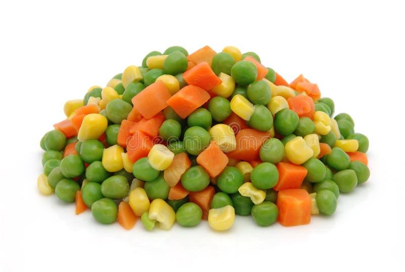 Bevroren gemengde groenten royalty-vrije stock foto's