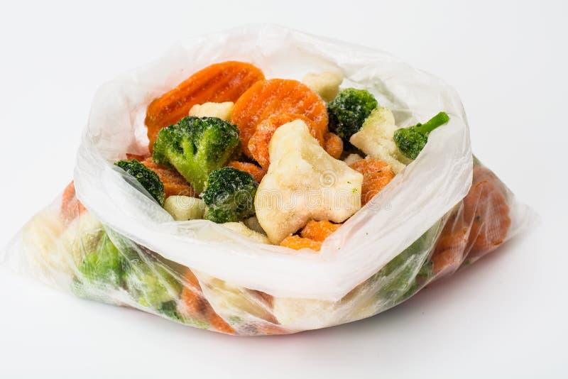 Bevroren groentenmengeling stock afbeeldingen