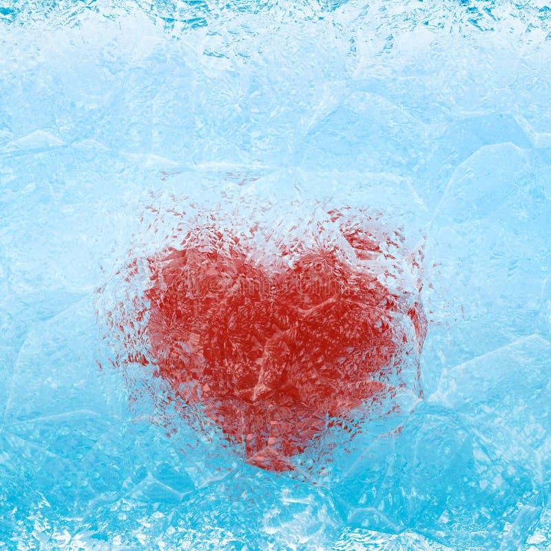 Bevroren hart royalty-vrije stock afbeeldingen