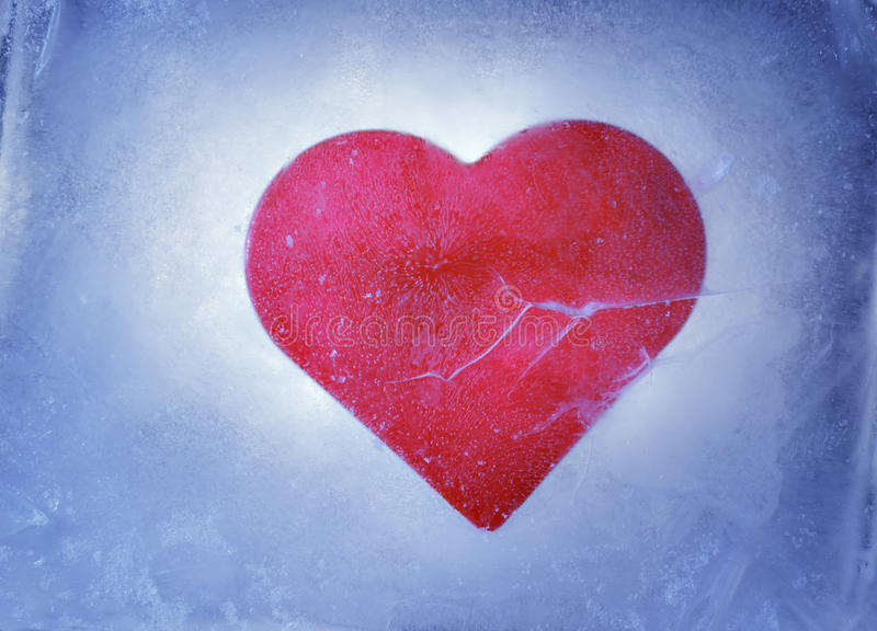 Bevroren hart royalty-vrije stock afbeelding