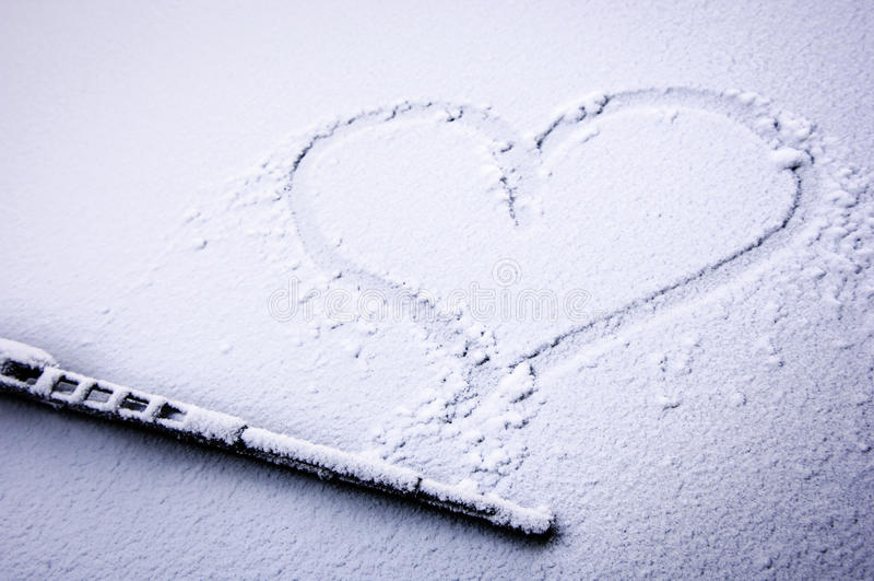 Bevroren hart stock fotografie