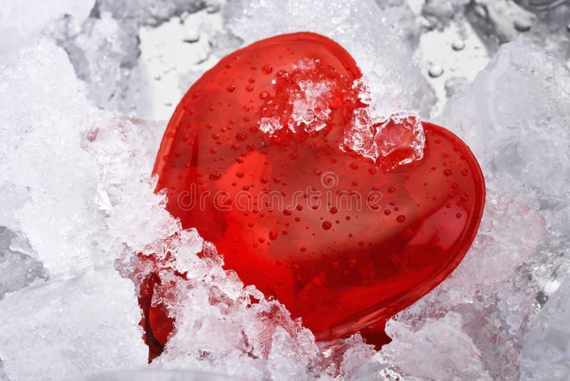 Bevroren hart stock foto's