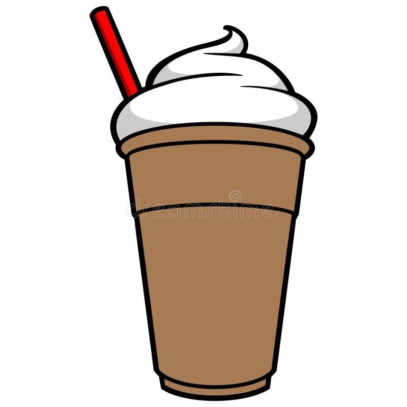Bevroren koffie royalty-vrije illustratie