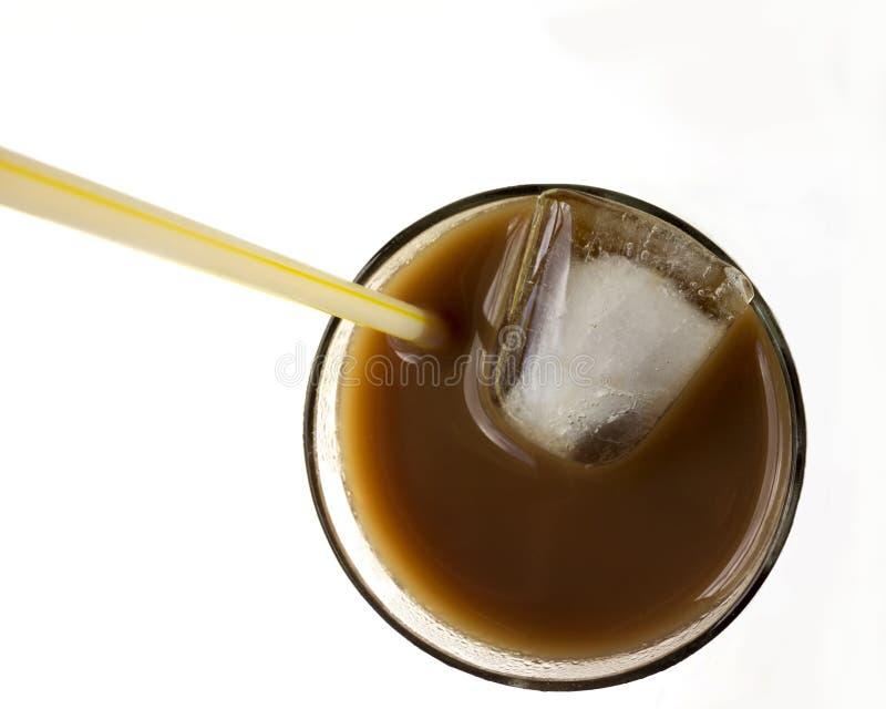 Bevroren Koffie Hoogste Mening royalty-vrije stock afbeelding