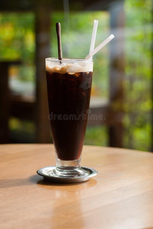 Bevroren koffieamericano stock foto