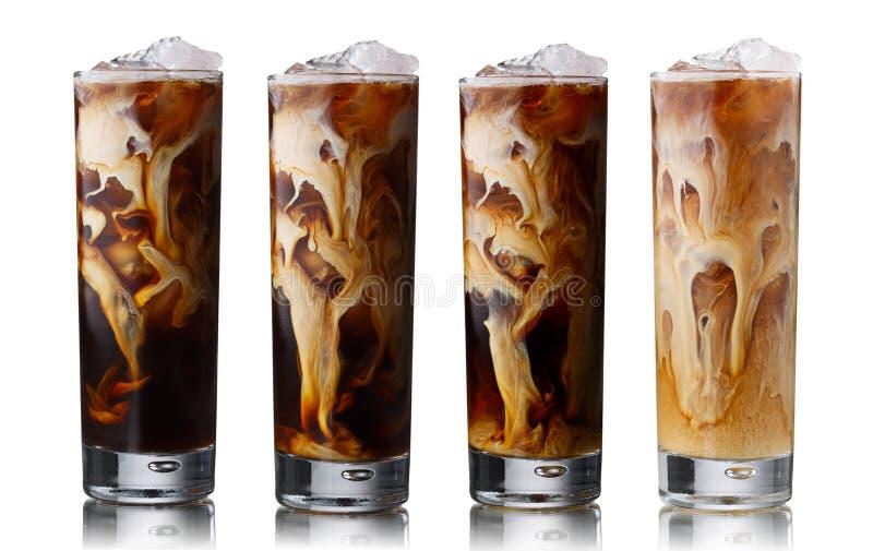 Bevroren koffiereeks royalty-vrije stock fotografie