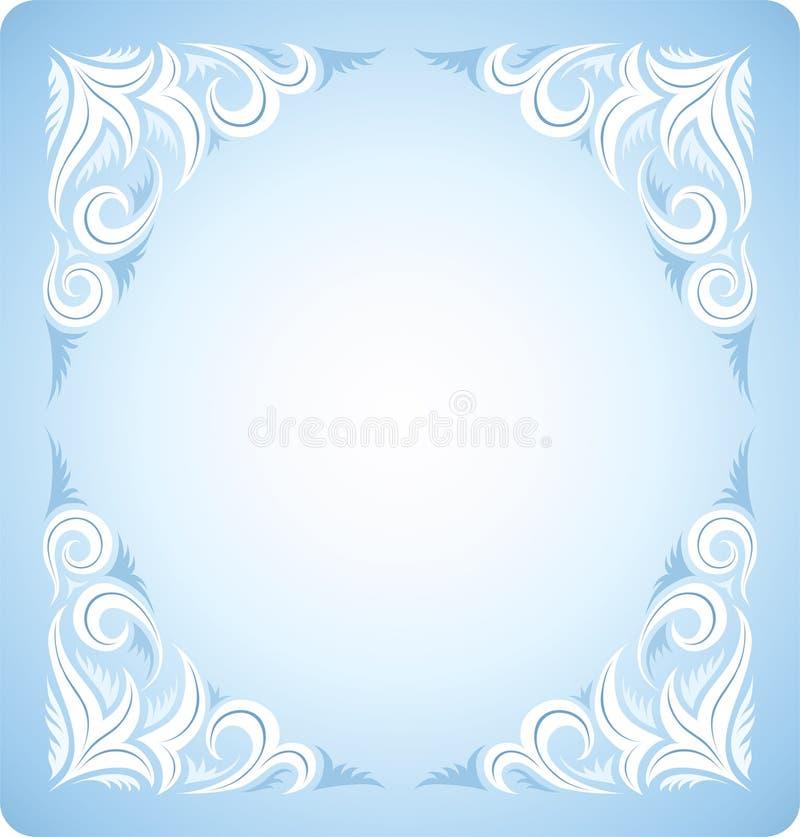 Bevroren kristallen stock illustratie
