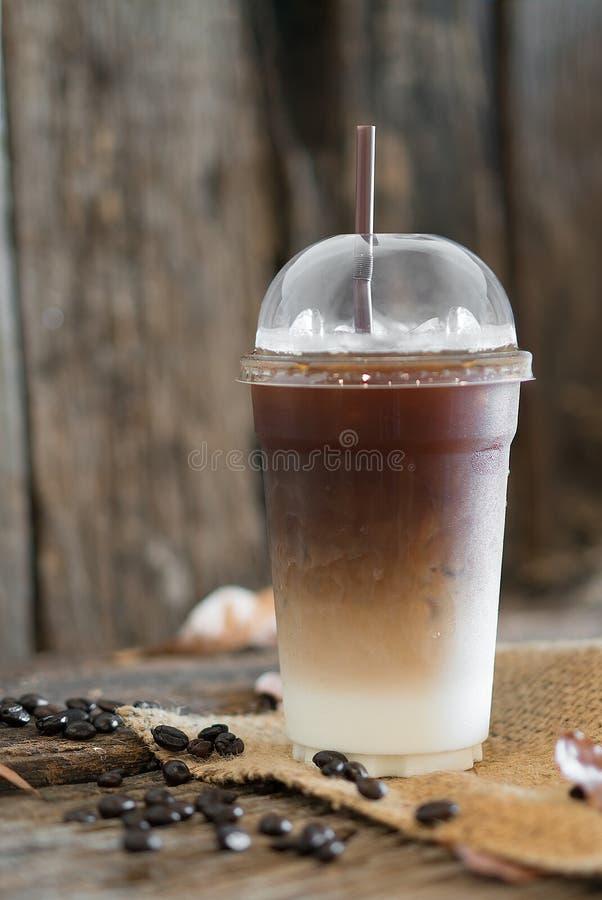 Bevroren latte koffie royalty-vrije stock foto