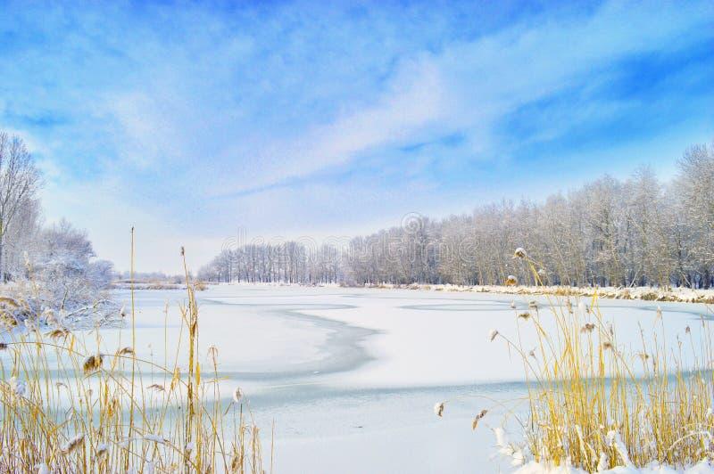 Bevroren Meer, Rusland royalty-vrije stock afbeeldingen