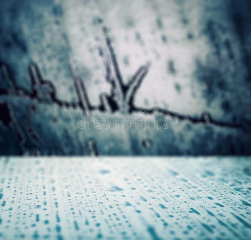 Bevroren, met ijs getextureerd oppervlak royalty-vrije stock foto