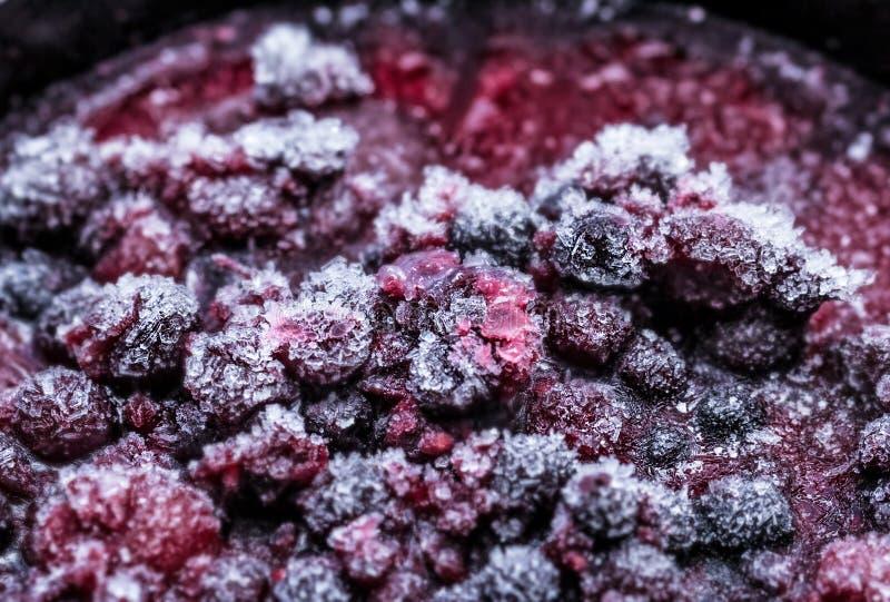 Bevroren mooie bessen van diepvriezer royalty-vrije stock foto's