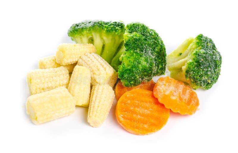 Bevroren organische groenten royalty-vrije stock foto