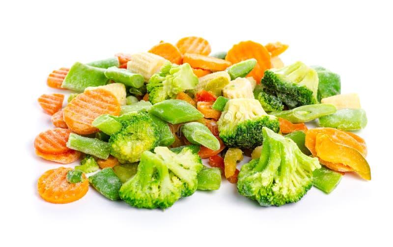 Bevroren organische groenten stock afbeelding