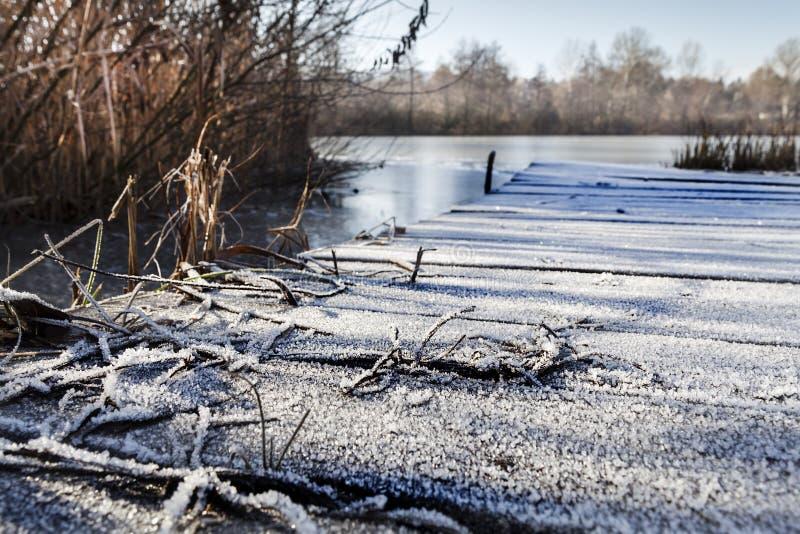 Bevroren pijler stock fotografie