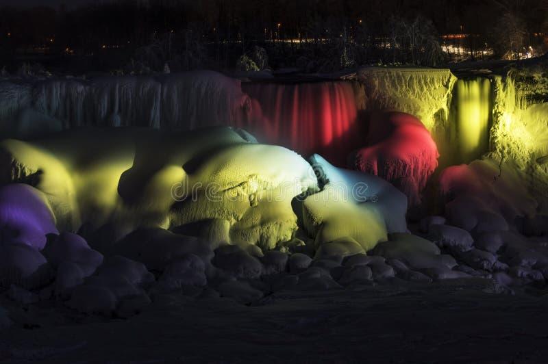 Bevroren regenboog royalty-vrije stock fotografie