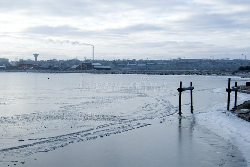 Bevroren stad stock afbeeldingen