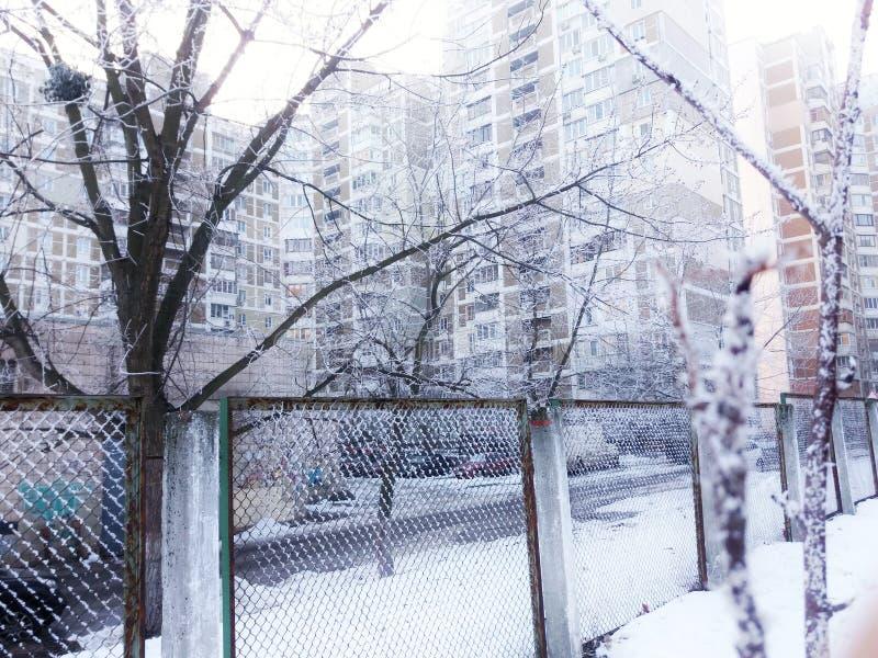 Bevroren stad royalty-vrije stock afbeelding