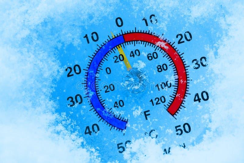 Bevroren thermometer royalty-vrije stock afbeeldingen