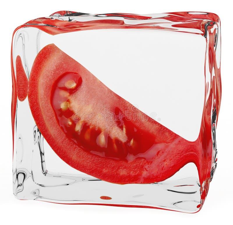 Bevroren tomaat royalty-vrije illustratie