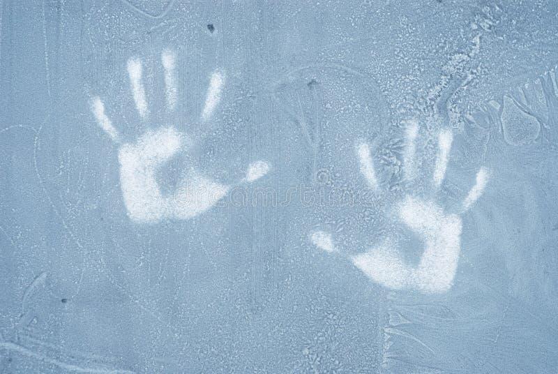 Bevroren venster stock foto