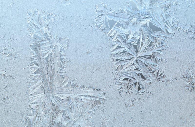 Bevroren vensterglas stock fotografie