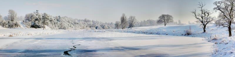 Bevroren vijver royalty-vrije stock afbeelding