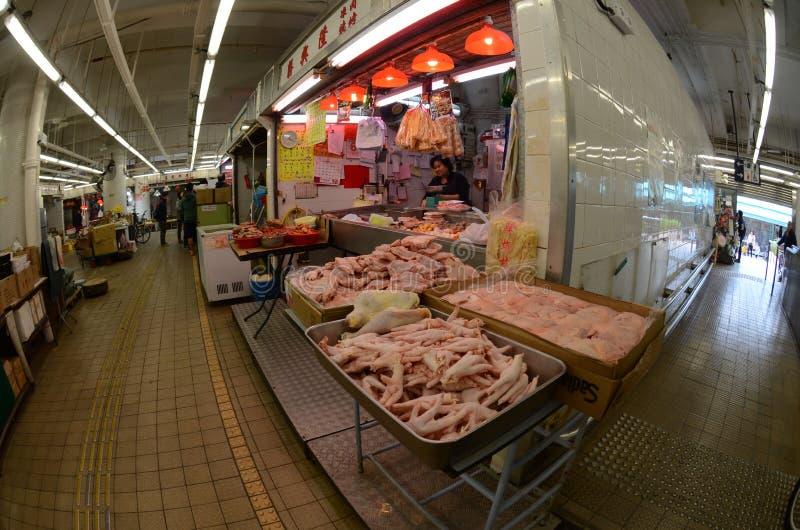 Bevroren vleesmarkt royalty-vrije stock foto