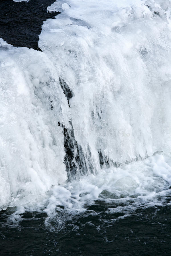 Bevroren waterval royalty-vrije stock foto