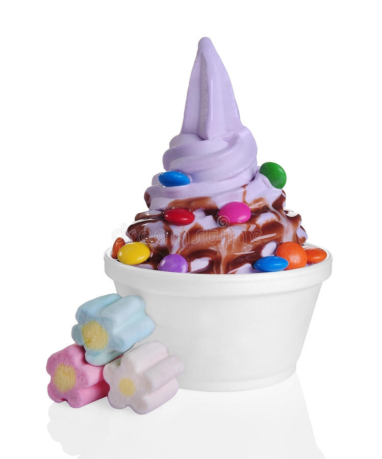Bevroren yoghurt stock foto's