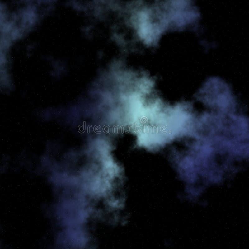 Bewölkte und sternenklare Nacht vektor abbildung