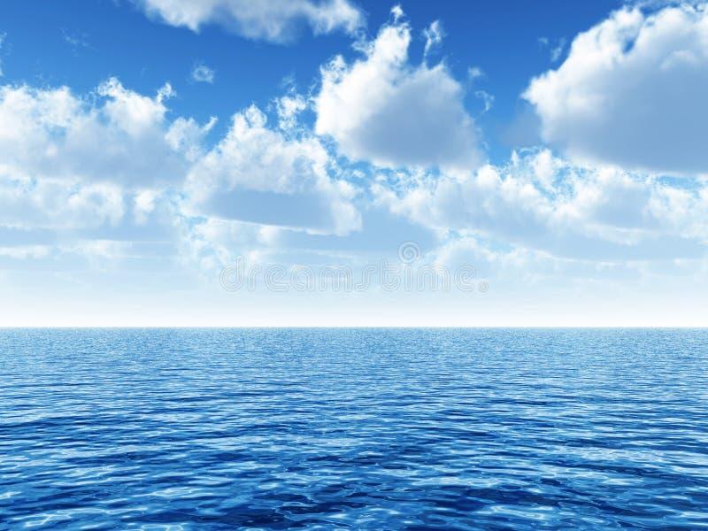 Bewölkter blauer Himmel vektor abbildung