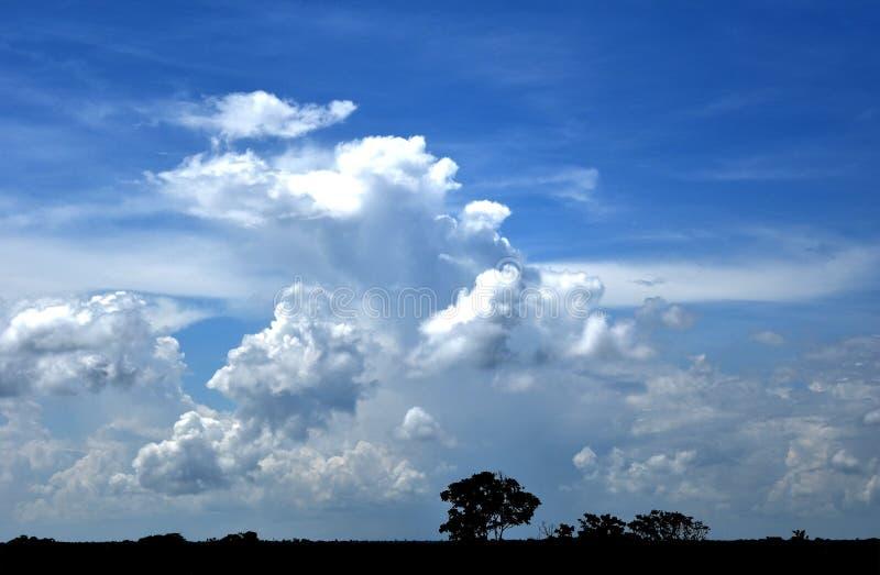 Bewölkter Himmel Bangladesch stockbilder