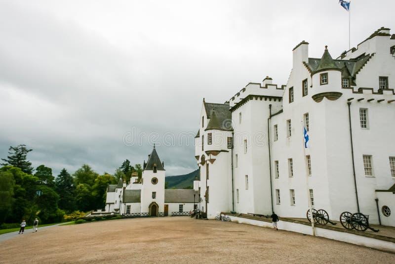 Bewölktes Blair-Schloss stockfotografie