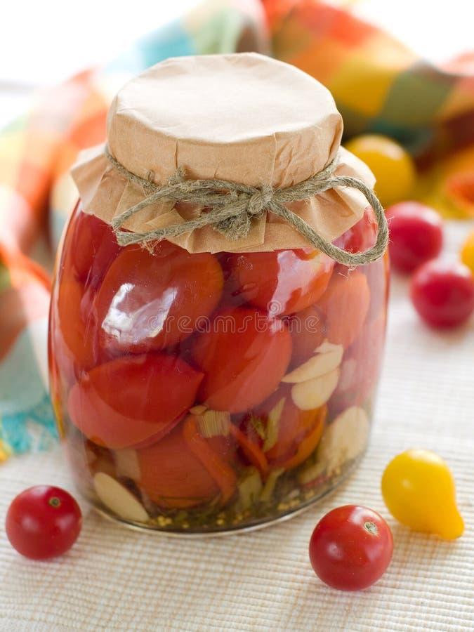 Bewaarde tomaat royalty-vrije stock afbeelding