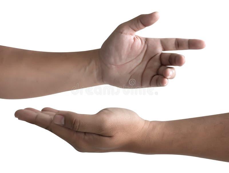 bewaffnen Sie Bluthandsammlung des jungen Mannes hohe Auflösung auf w lizenzfreie stockfotografie