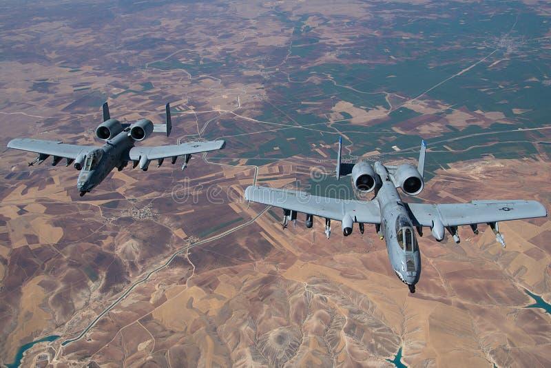 Bewaffnet und gefährlich! Hawgs-Patrouille die Himmel lizenzfreies stockbild