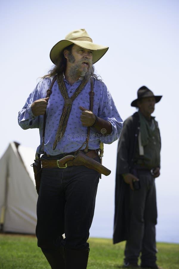 Bewaffneter Bandit des wilden Westens lizenzfreie stockbilder