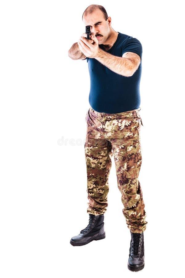Bewaffneter Guerillamann stockfoto