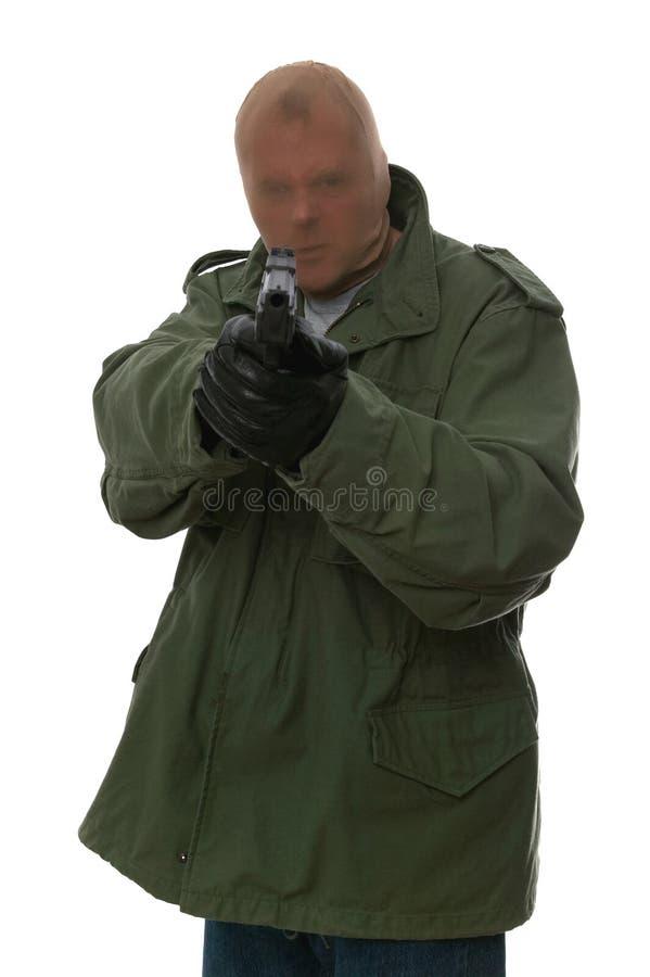 Bewaffneter Räuber stockbild