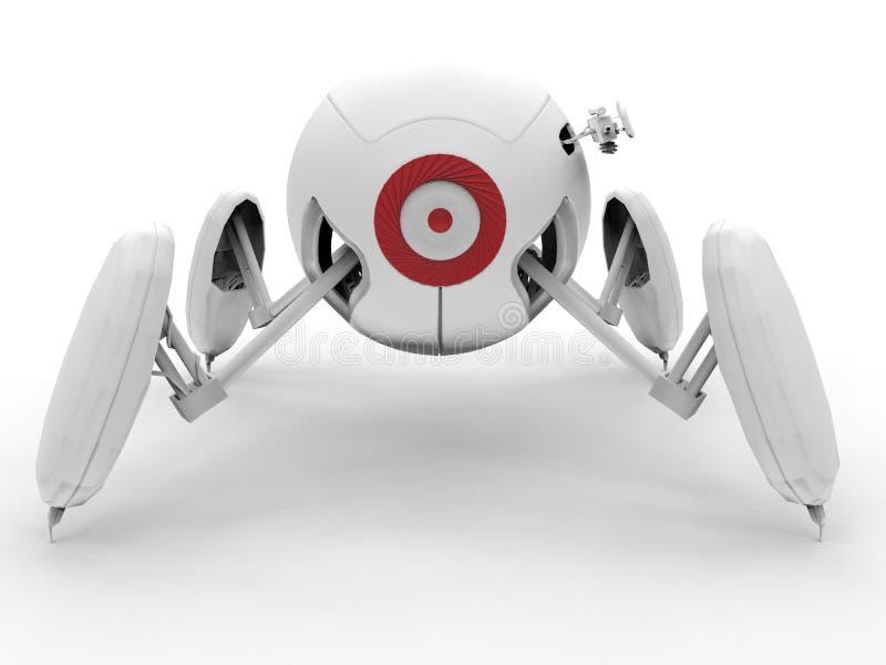 Bewaffneter Roboter - futuristisches Sicherheitskonzept vektor abbildung