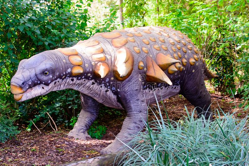 Bewaffnetes Modell Dinosaurier Edmontonia 3D lizenzfreies stockbild