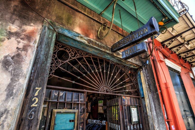 Bewahrung Hall in New Orleans lizenzfreie stockbilder