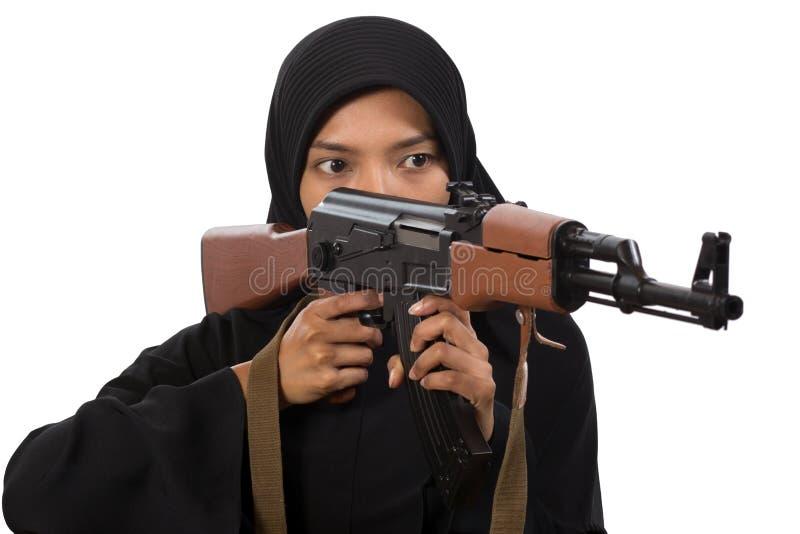 Bewapende vrouw royalty-vrije stock afbeelding