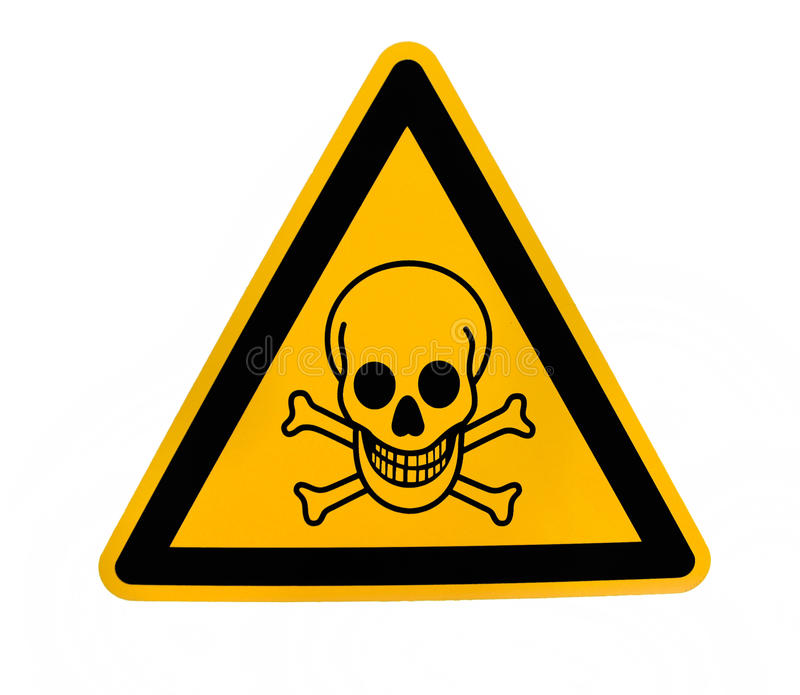 beware χημικό σημάδι στοκ φωτογραφίες