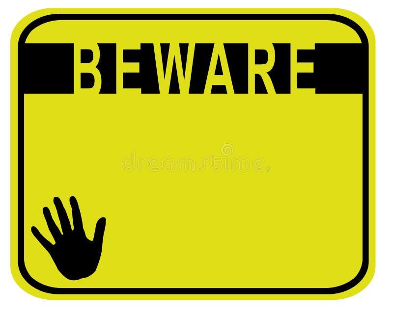 Beware stock illustratie