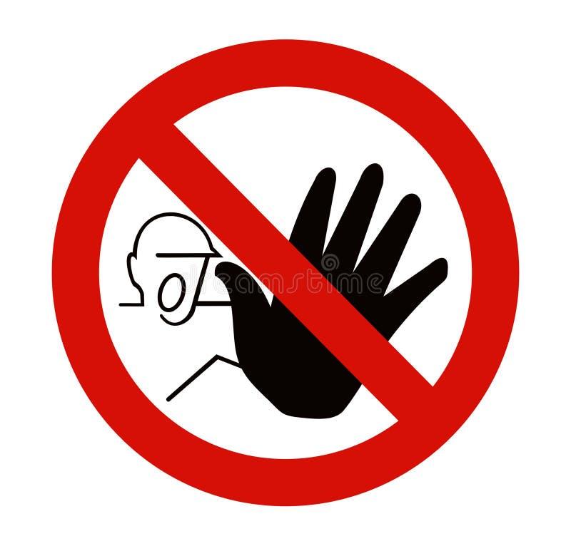 Beware a construção adiante ilustração stock