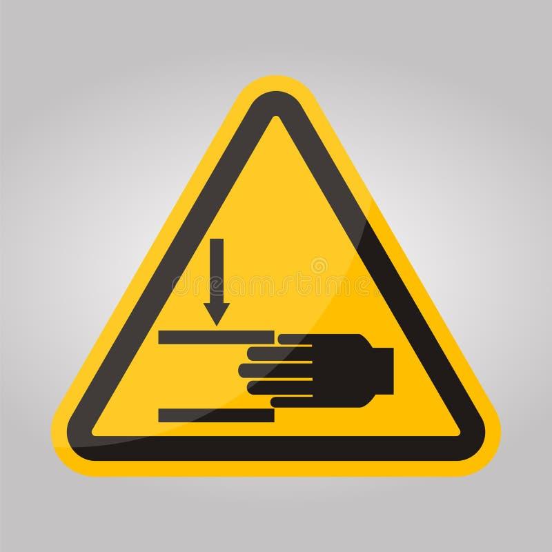 Beware Of Crushing Hand Symbol Isolate On White Background,Vector Illustration EPS.10 vector illustration