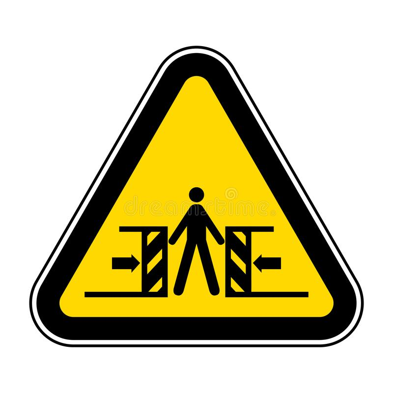 Beware Crushing Symbol Sign Isolate On White Background,Vector Illustration EPS.10. Hazard, risk, safety, protection, security, caution, icon, hand, danger vector illustration