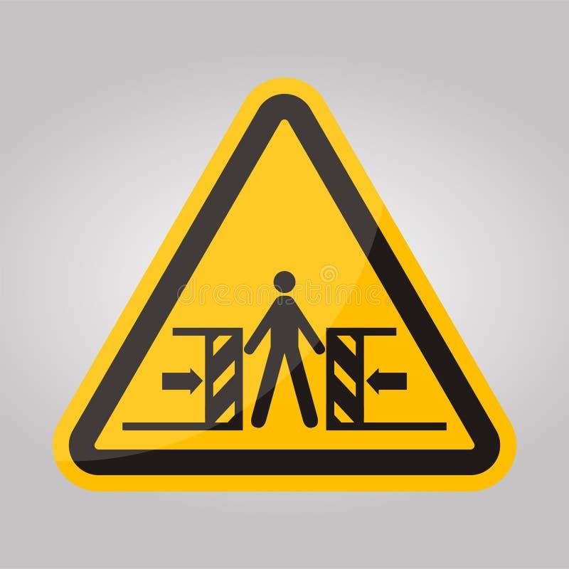 Beware Crushing Symbol Sign Isolate On White Background,Vector Illustration EPS.10 royalty free illustration