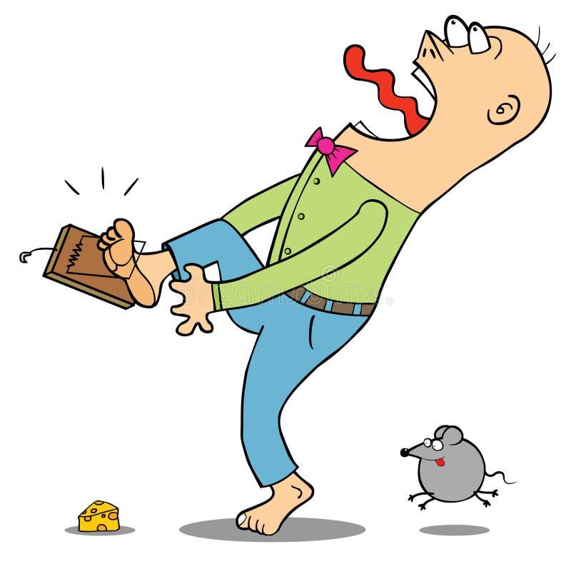 Beware da armadilha de rato ilustração royalty free